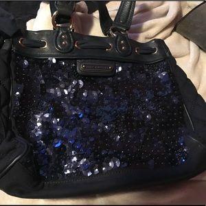 Juicy Couture dark blue shoulder bag